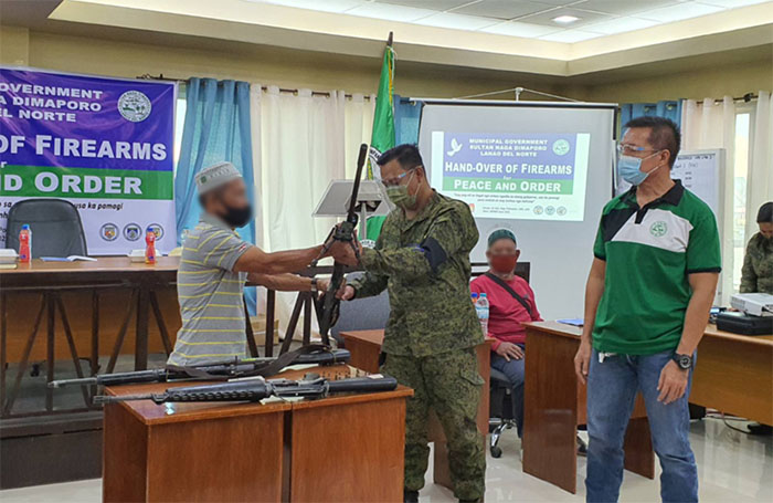 Hand-over of high-powered firearms