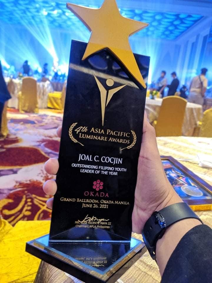 SK chair of Brgy. Carangag receives Luminare award