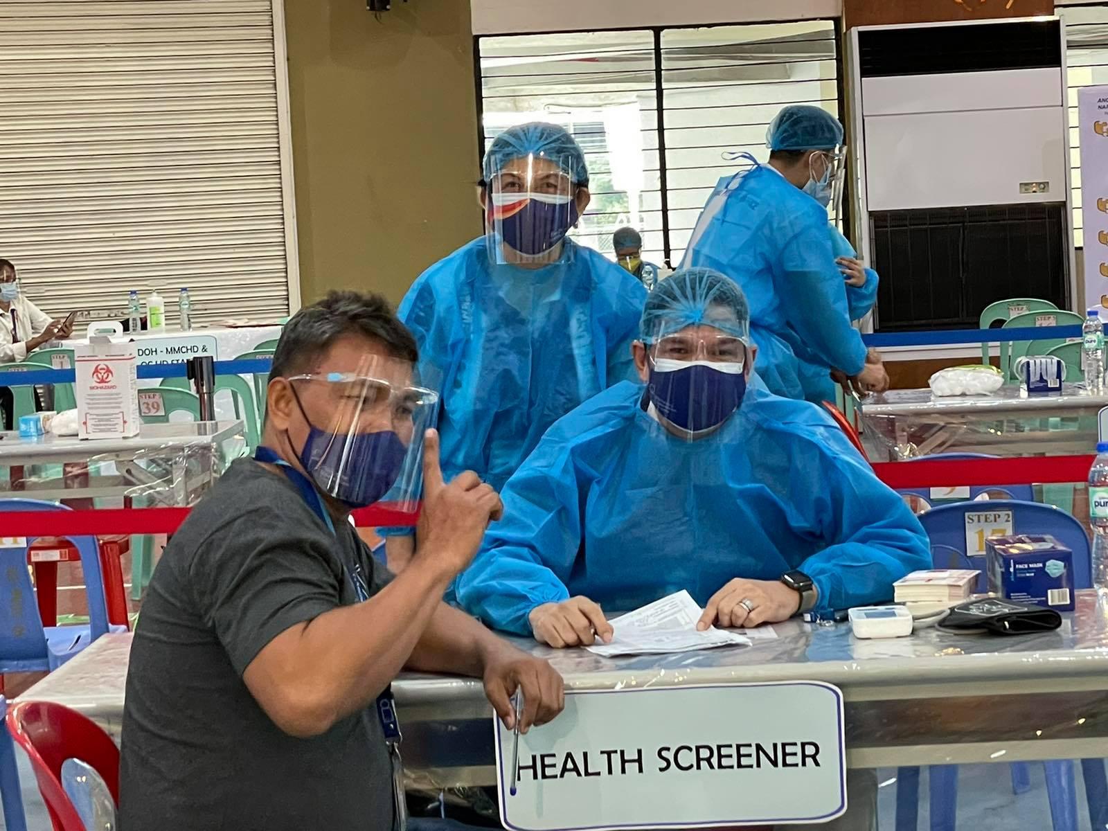 Screening before vaccination